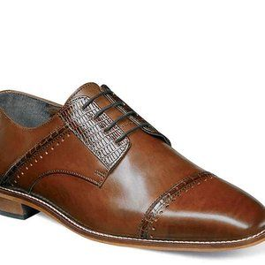 sz 8 Stacy Adams brown leather dress formal shoes